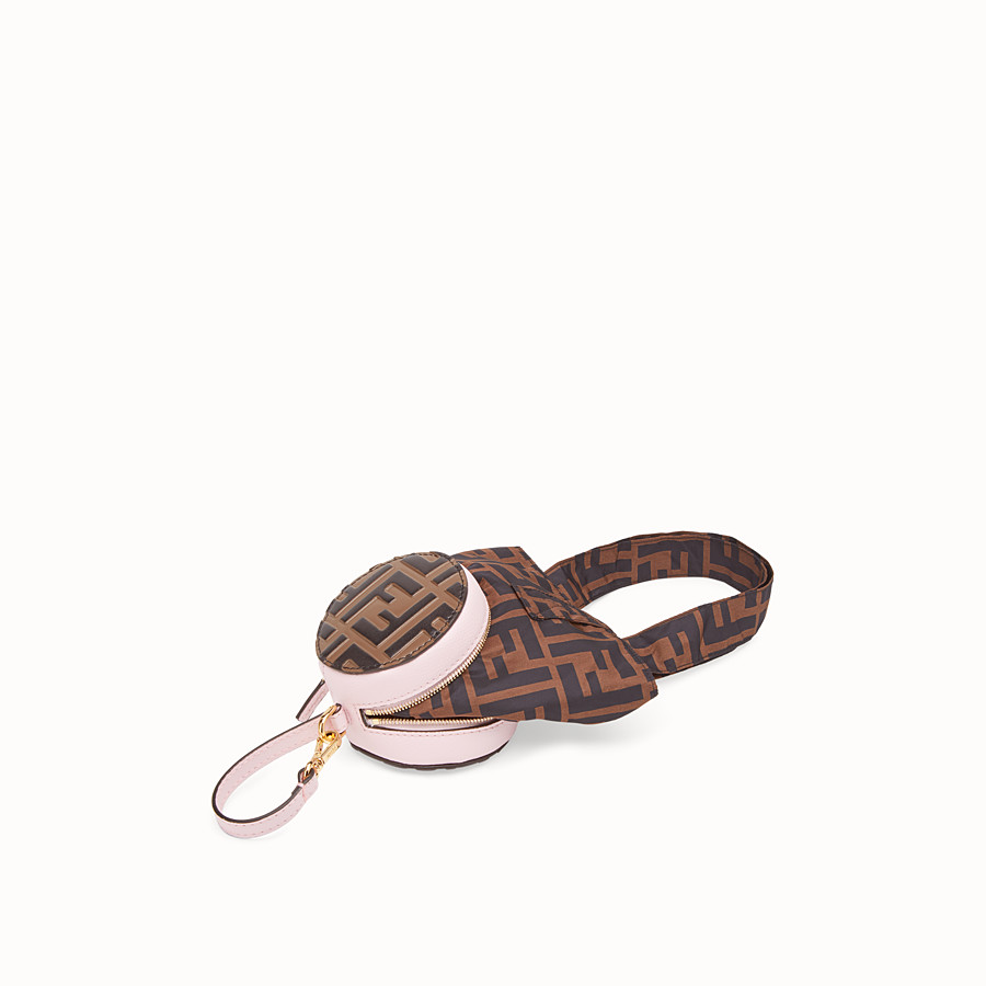 FENDI TOTE BAG CHARM - Pink leather charm - view 2 detail