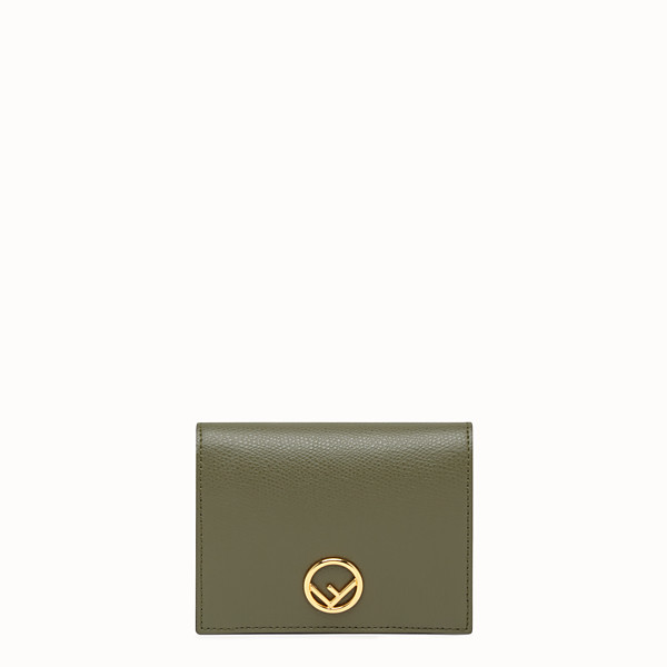 FENDI BIFOLD - Green leather compact wallet - view 1 small thumbnail