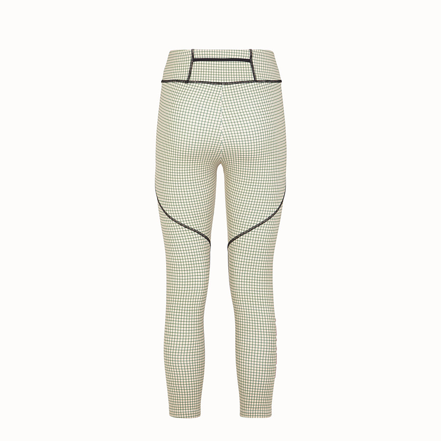 FENDI LEGGINGS - Multicolour tech fabric trousers - view 2 detail
