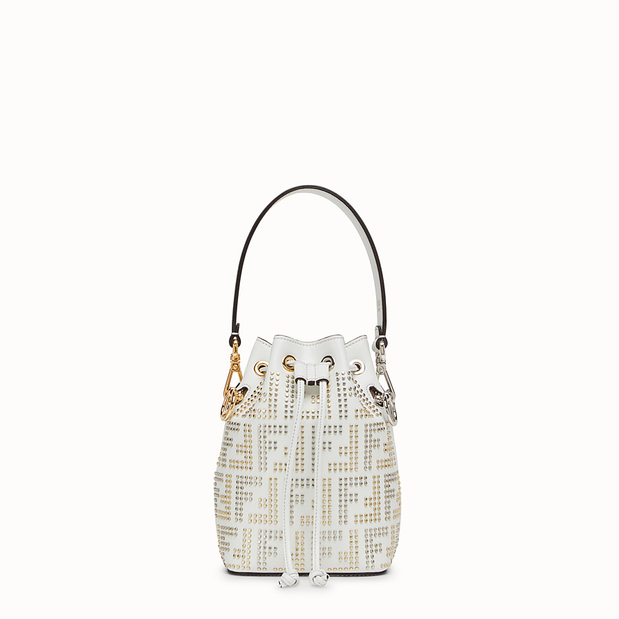 9b6f3c2bc0d White leather minibag - MON TRESOR