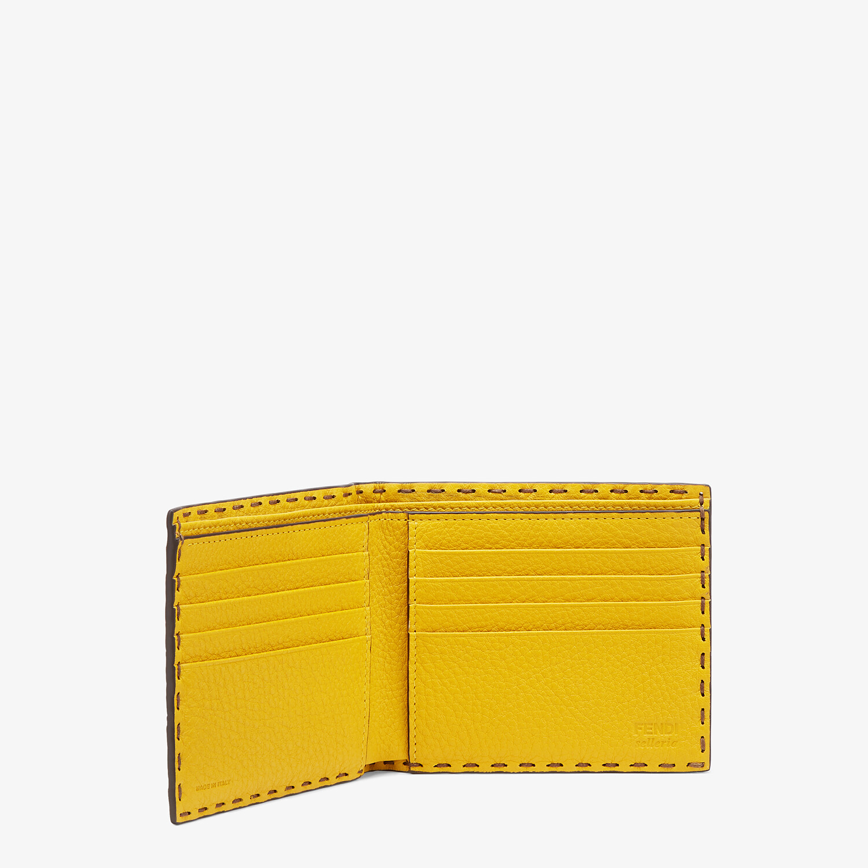 FENDI WALLET - Beige leather bi-fold wallet - view 3 detail