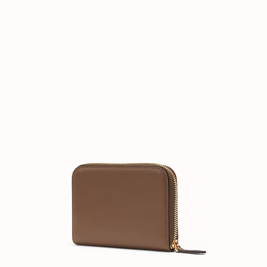 FENDI ZIP-AROUND - Brown leather wallet - view 2 detail