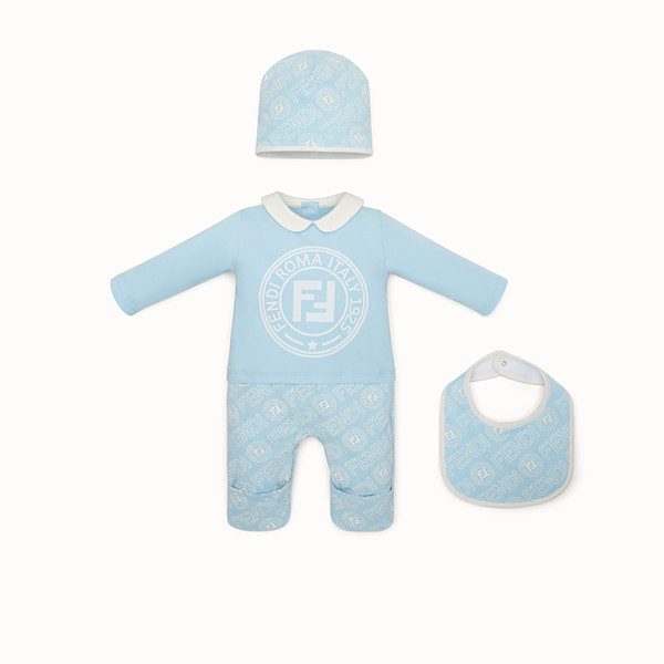 FENDI BABY'S KIT - Light blue cotton jersey baby kit - view 1 small thumbnail