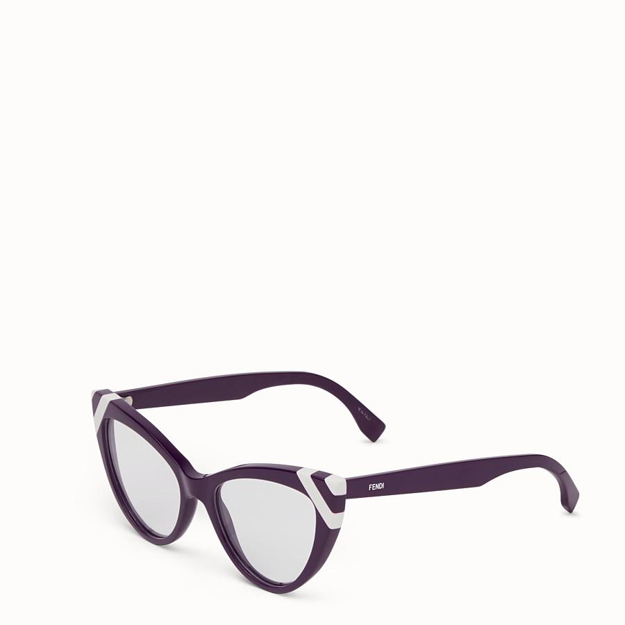 FENDI WAVES - Sunglasses with transparent lenses - view 2 detail