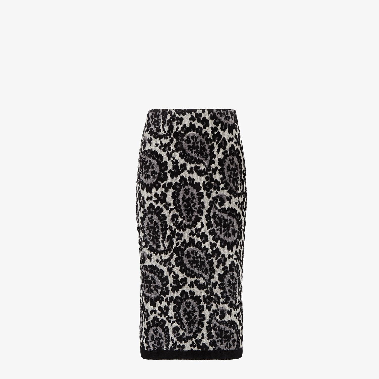 FENDI SKIRT - Gray knit skirt - view 1 detail