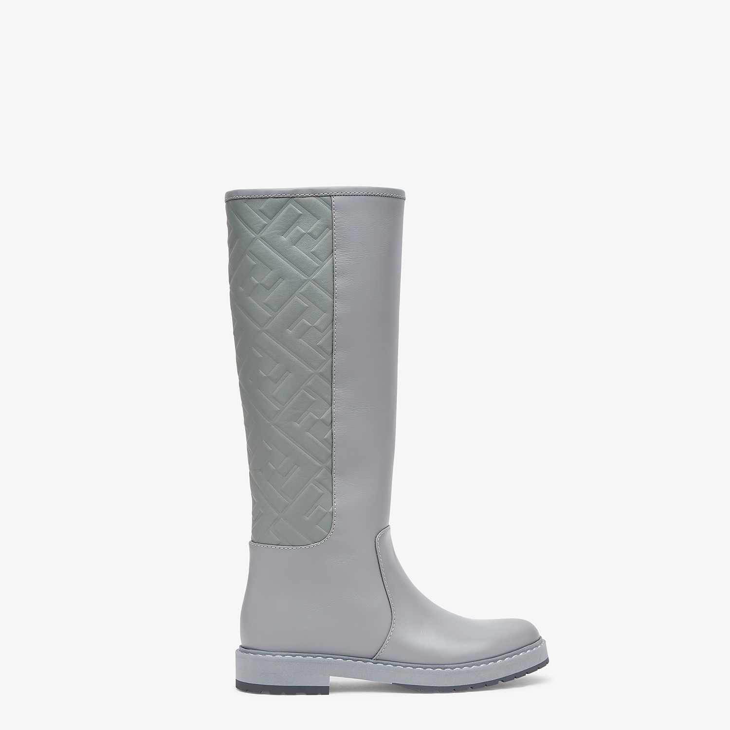 FENDI BOOTS - Grey leather boots - view 1 detail