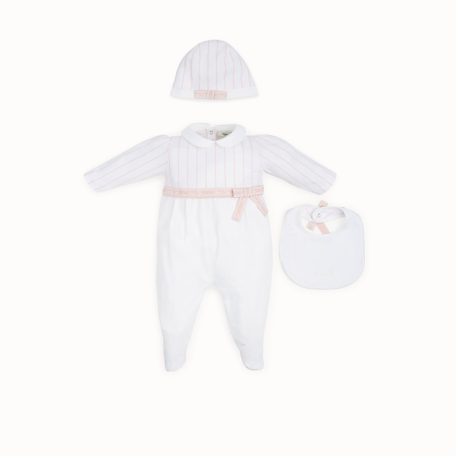 FENDI BABY GIRL'S KIT - Kit in pink and white jersey - view 1 detail