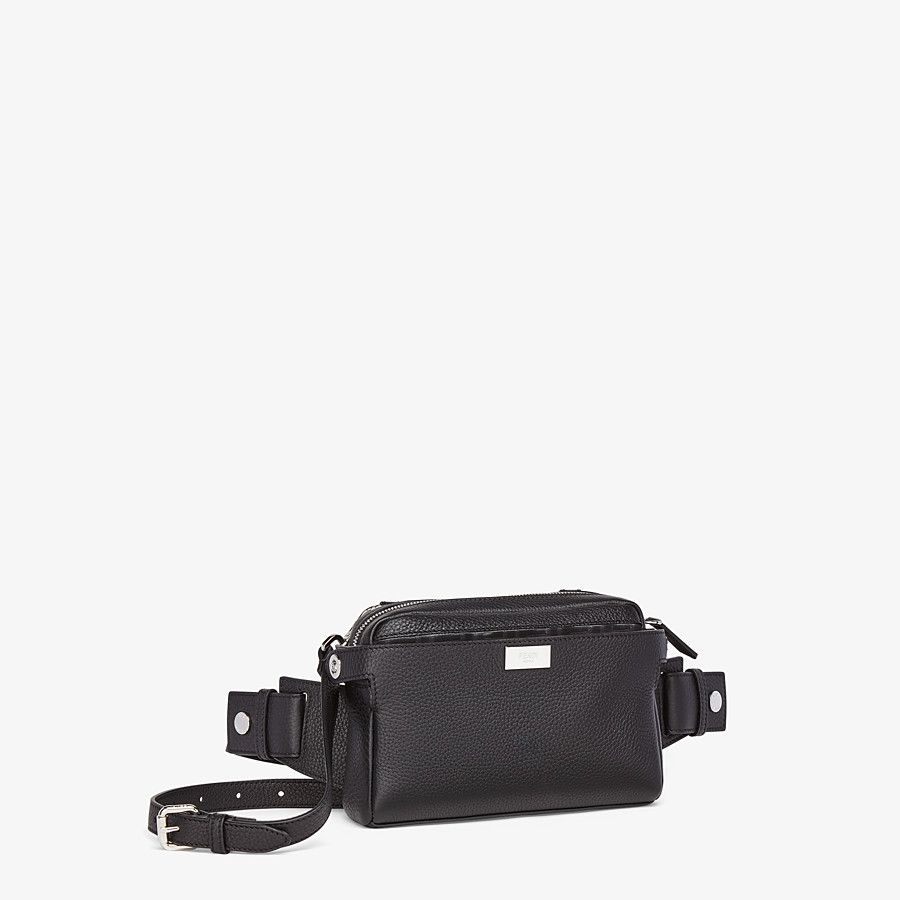 FENDI BELT BAG - Black leather belt bag - view 3 detail