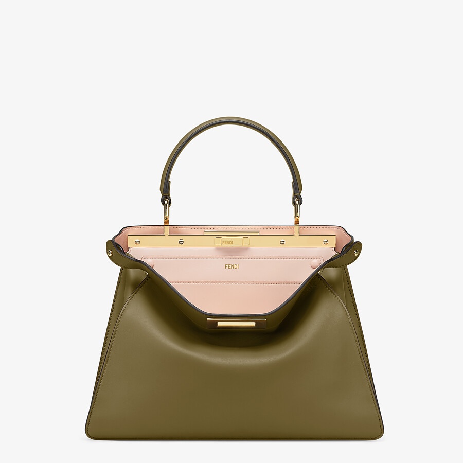 FENDI PEEKABOO ISEEU MEDIUM - Green leather bag - view 1 detail