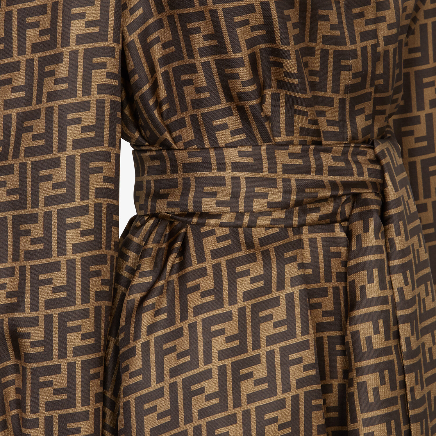 FENDI DRESS - Brown twill dress - view 3 detail
