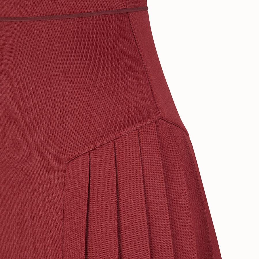 FENDI DRESS - Red cotton dress - view 3 detail