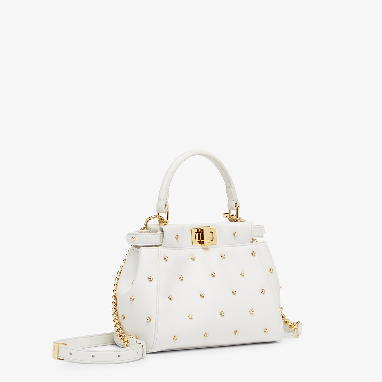 FENDI PEEKABOO ICONIC XS - White leather minibag - view 2 detail