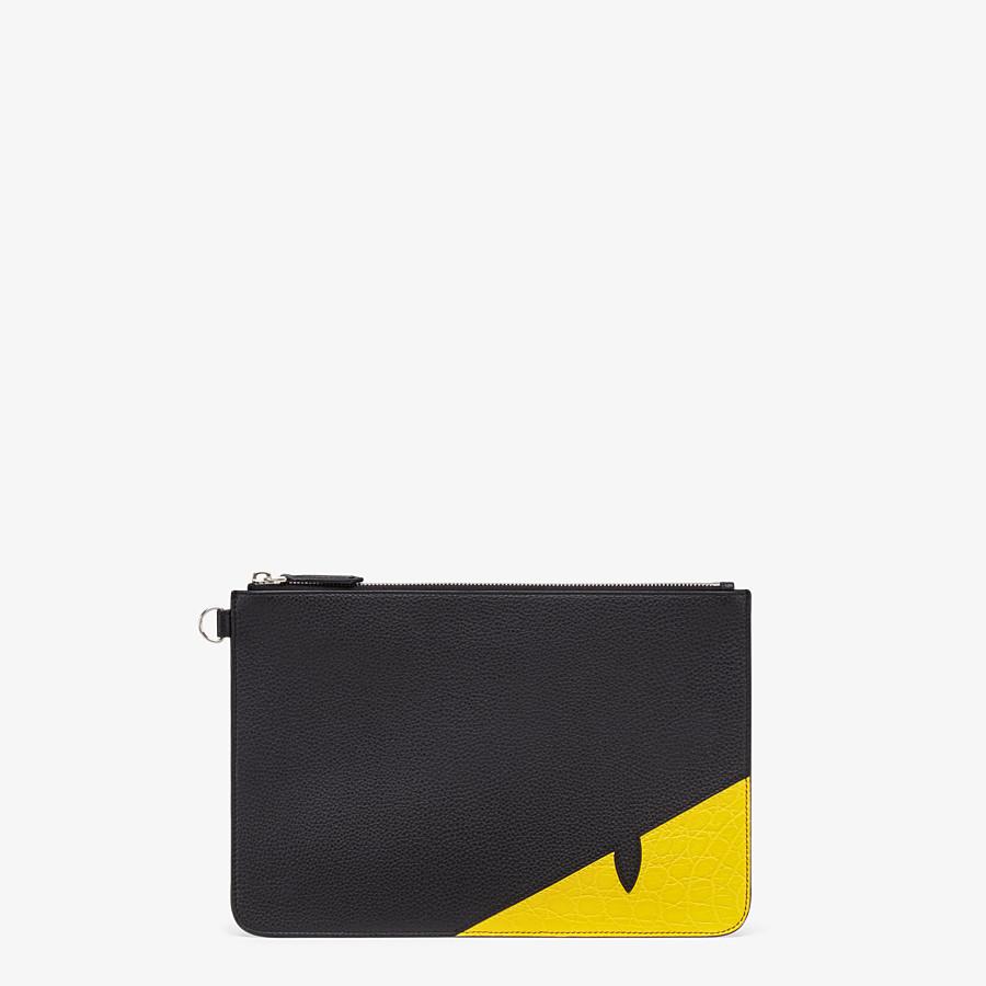 FENDI POUCH - Black leather slim pouch - view 1 detail