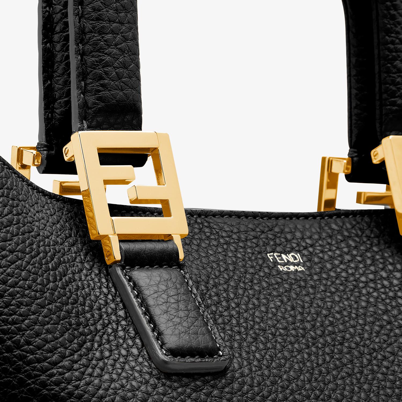 FENDI FF TOTE MEDIUM - Black leather bag - view 5 detail
