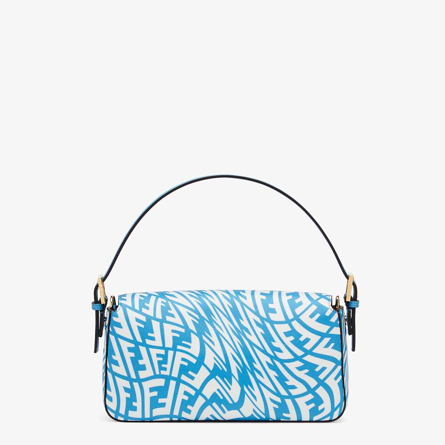 FENDI BAGUETTE 1997 - Blue glazed canvas bag - view 4 detail