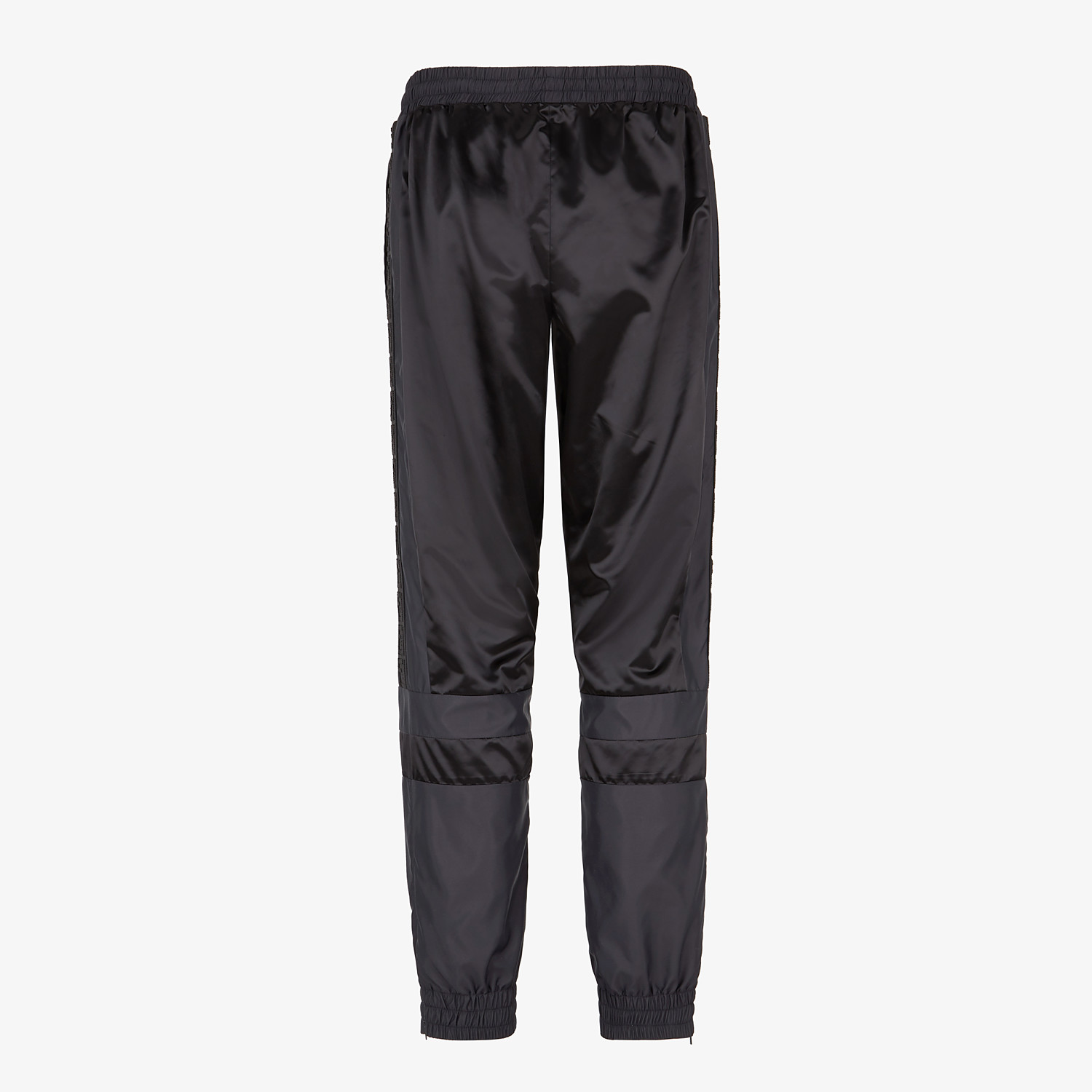FENDI PANTS - Black tech satin pants - view 2 detail