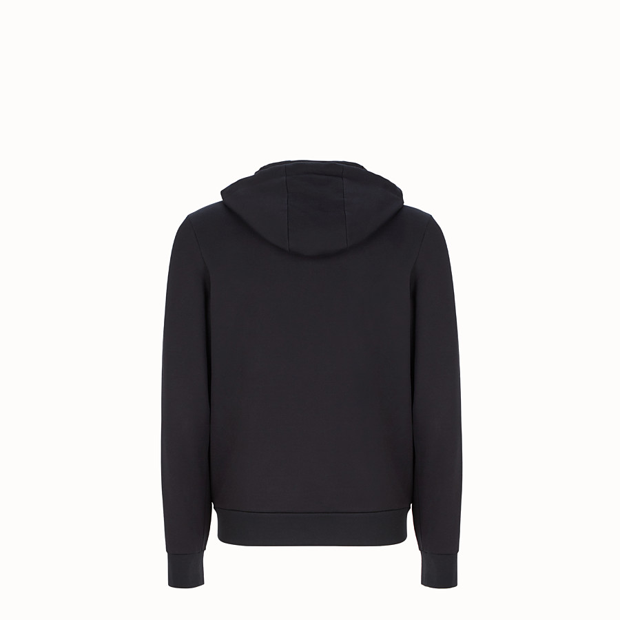 FENDI SWEATSHIRT - Black sweatshirt with hood - view 2 detail