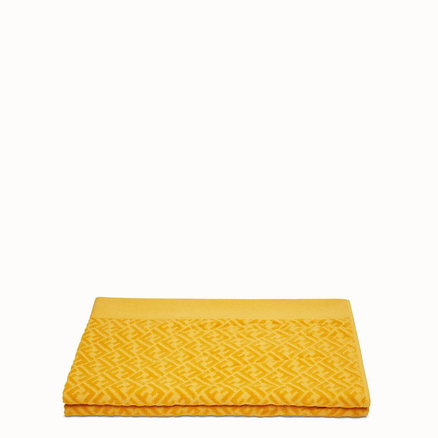 FENDI BEACH TOWEL - Yellow cotton beach towel - view 2 detail