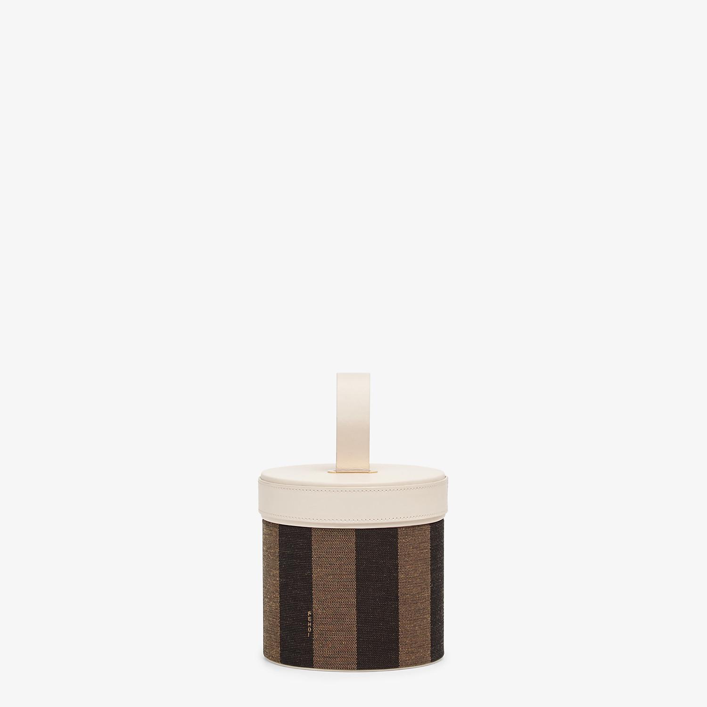 FENDI SMALL SLIPCASE - Brown jacquard box - view 1 detail