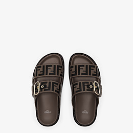 FENDI SLIDES - Multicolor leather flats - view 4 thumbnail