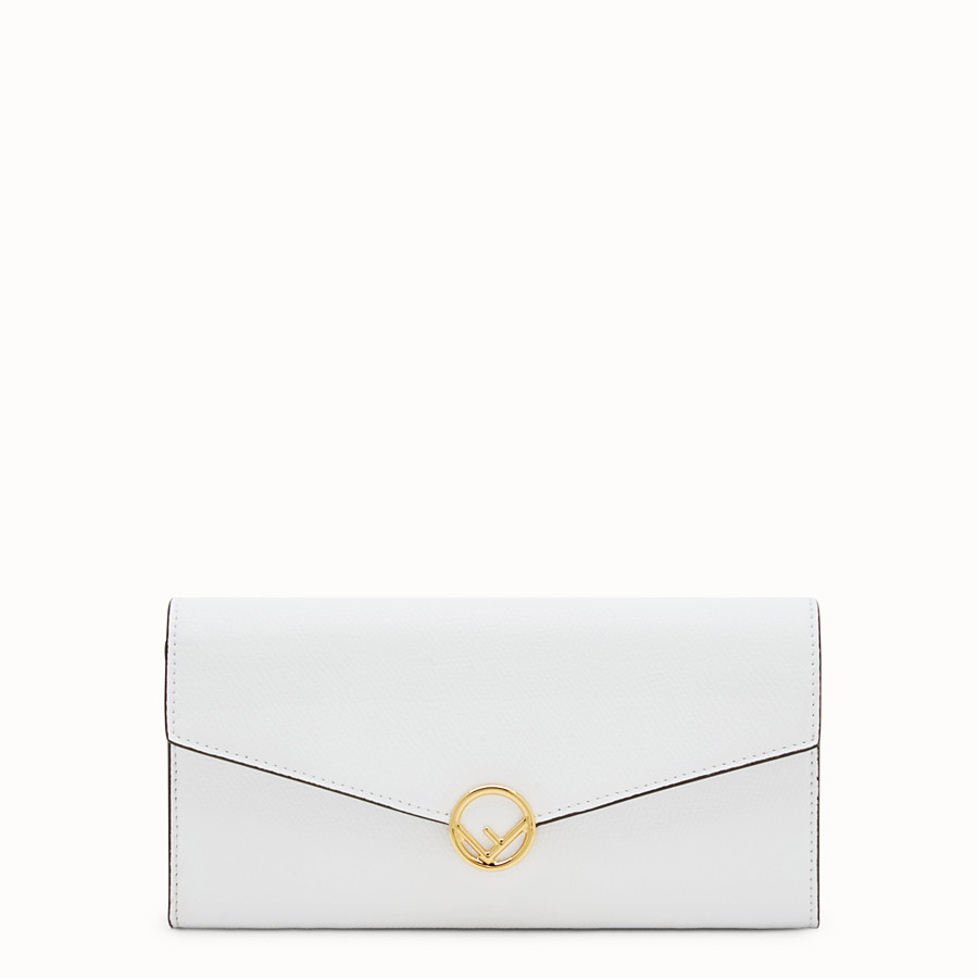 FENDI CONTINENTAL WITH CHAIN - White leather wallet - view 1 detail