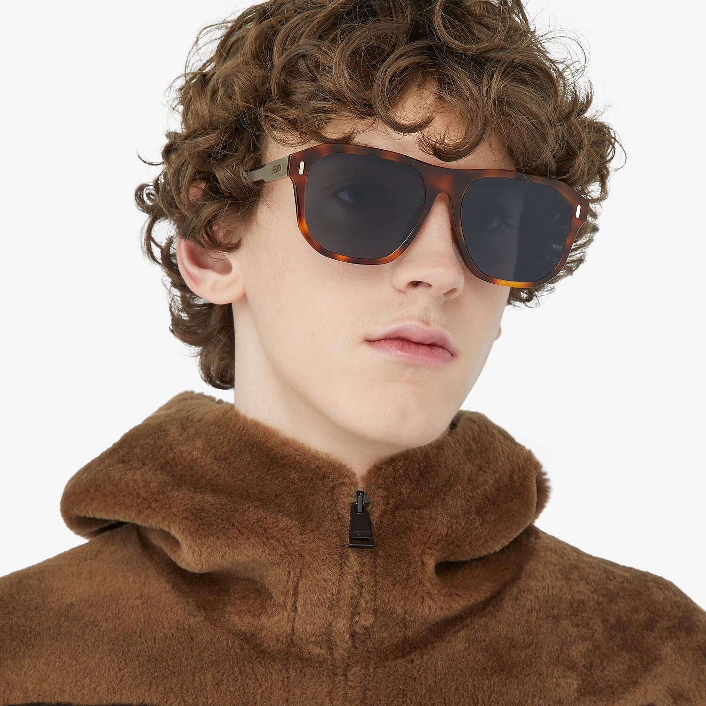 FENDI FENDI - Havana sunglasses - view 4 detail