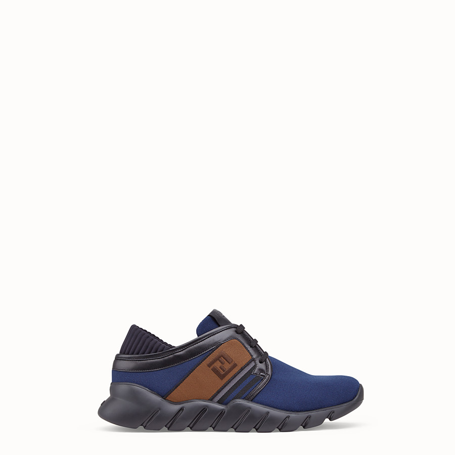 FENDI SNEAKERS - Blue tech fabric sneakers - view 1 detail