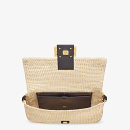 FENDI BAGUETTE LARGE - Sac en paille naturelle - view 5 thumbnail
