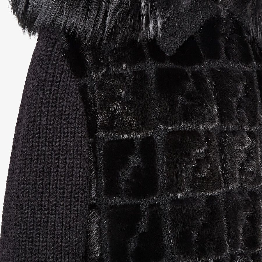 FENDI PARKA - Knit and inlaid mink fur parka - view 3 detail