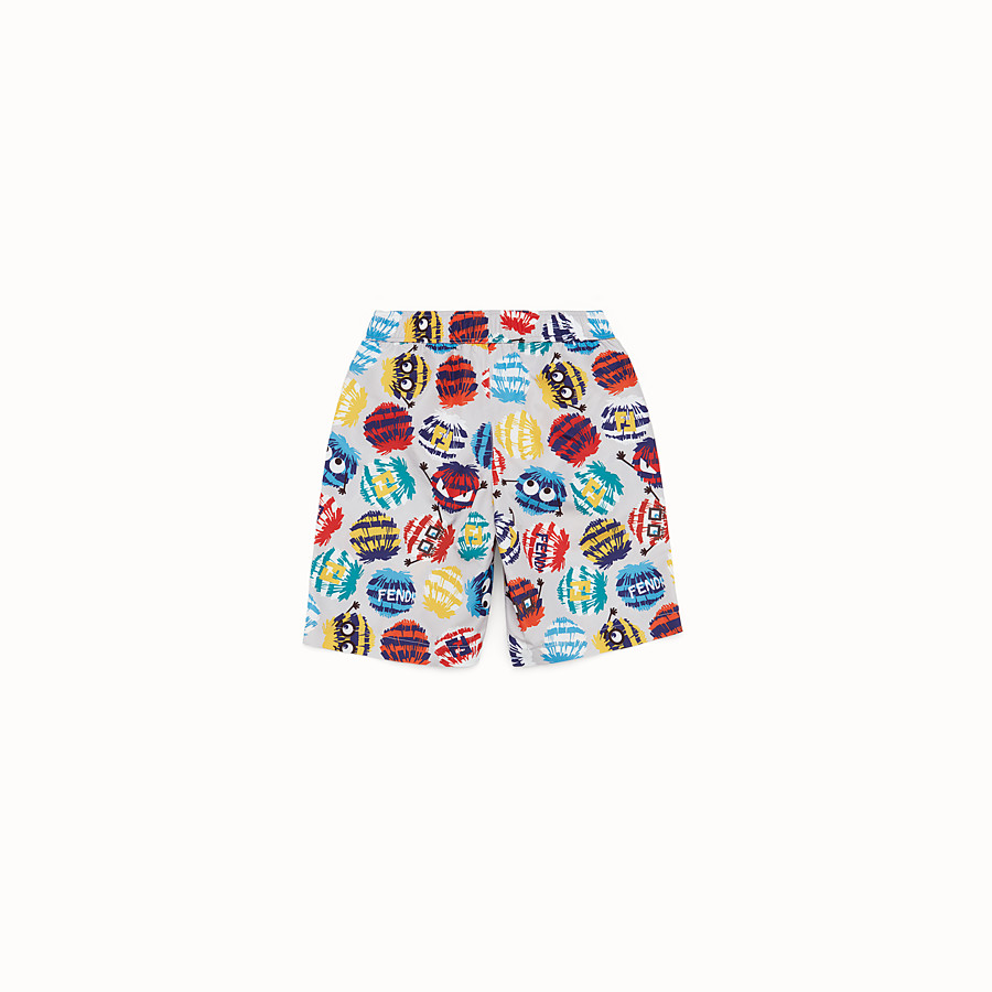 FENDI BOXER - Swimsuit in grey and multicolour nylon - view 2 detail