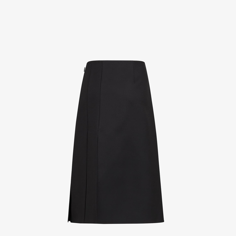 FENDI SKIRT - Black silk and wool skirt - view 2 detail