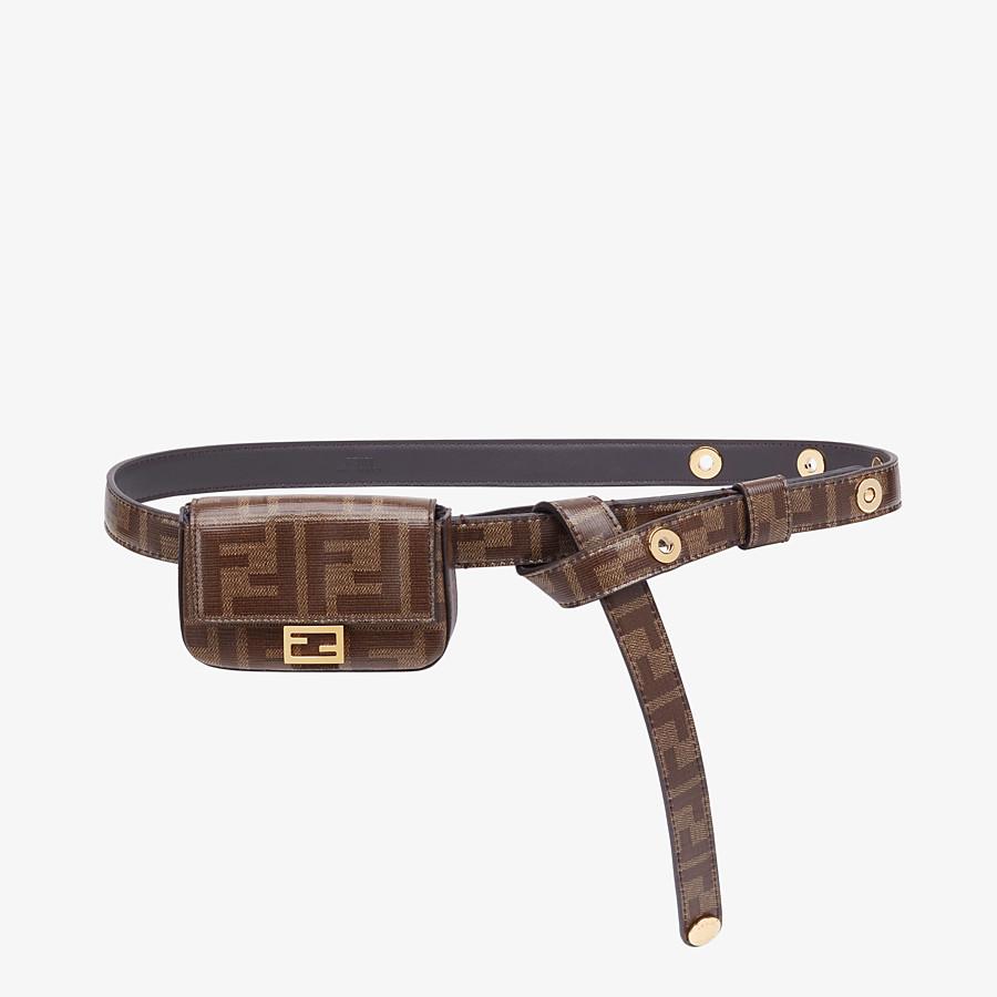 FENDI BELT WITH BAG - Brown fabric belt - view 1 detail