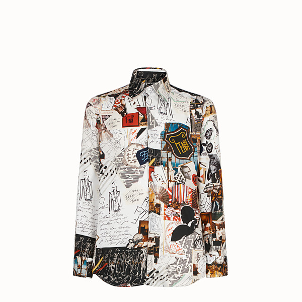 FENDI SHIRT - White silk shirt - view 1 small thumbnail