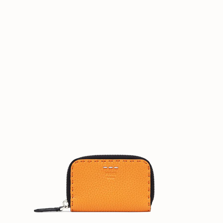 FENDI ZIP AROUND - Portafoglio in pelle arancione - vista 1 dettaglio