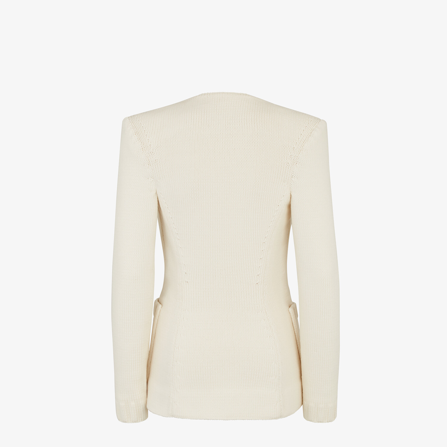 FENDI JACKET - White cotton jacket - view 2 detail