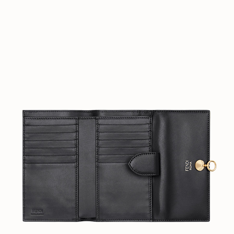 FENDI WALLET - Slim continental wallet in black leather - view 5 detail