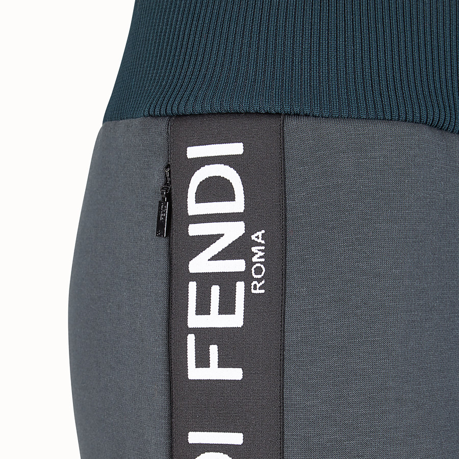 FENDI PANTS - Black fabric jogging pants - view 3 detail