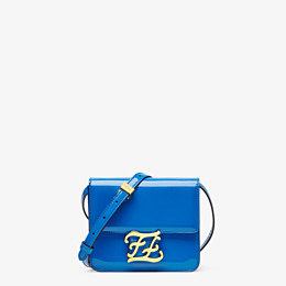FENDI KARLIGRAPHY - Tasche aus Lackleder in Blau - view 1 thumbnail