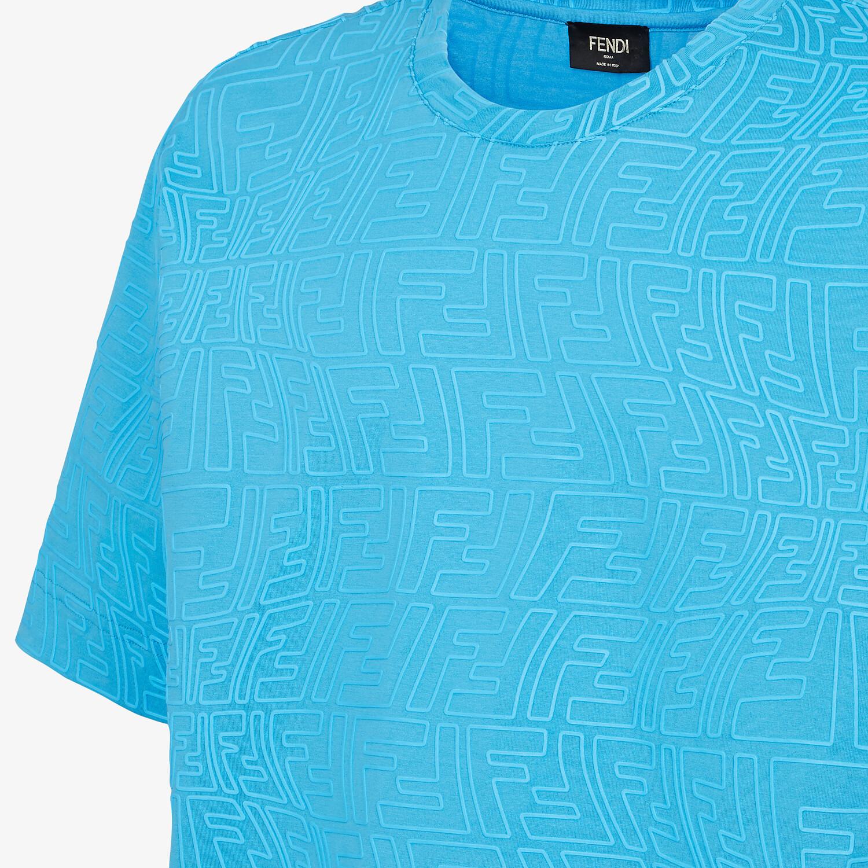 FENDI T-SHIRT - Light blue jersey T-shirt - view 3 detail