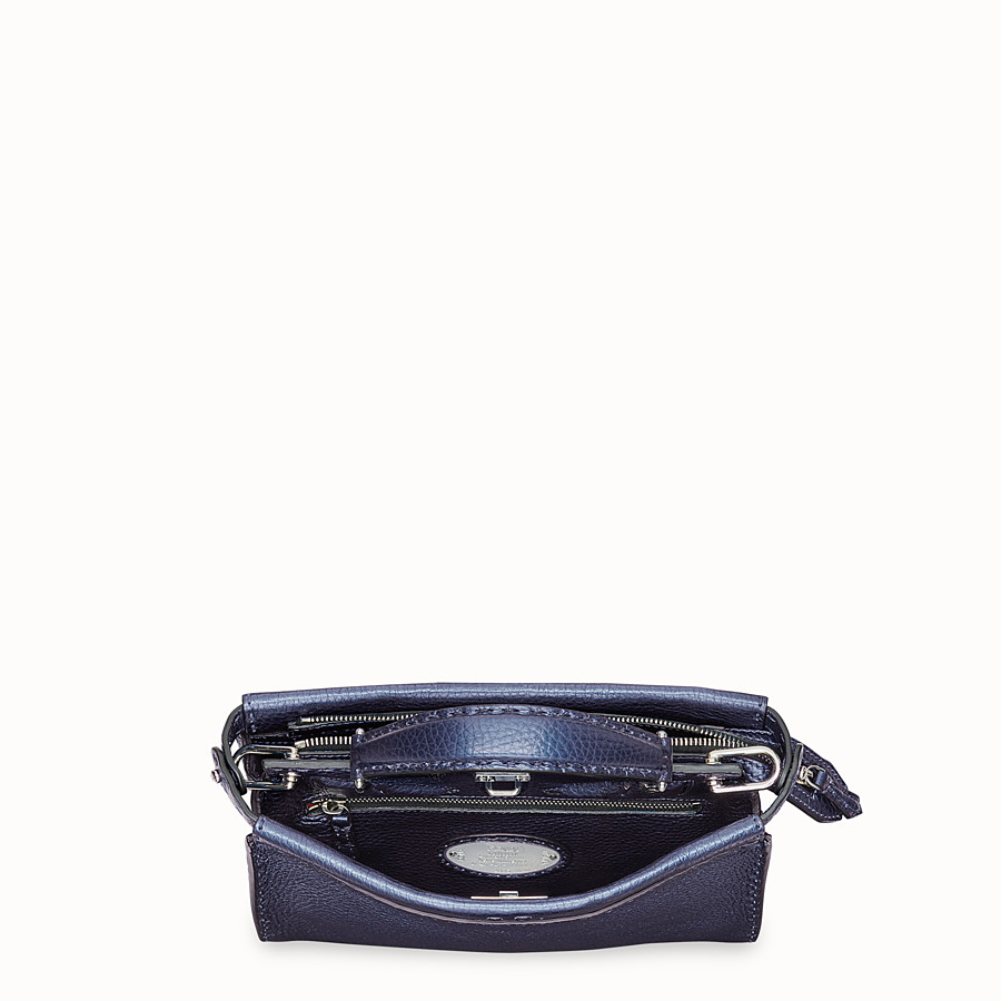 FENDI MINI PEEKABOO FIT - Sac en cuir bleu - view 4 detail