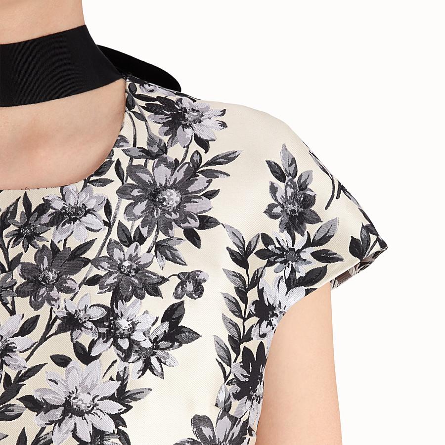 FENDI SHORT DRESS - Multicolour silk dress - view 3 detail