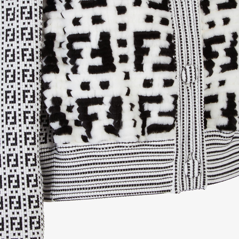 FENDI JACKET - White mink cardigan - view 3 detail