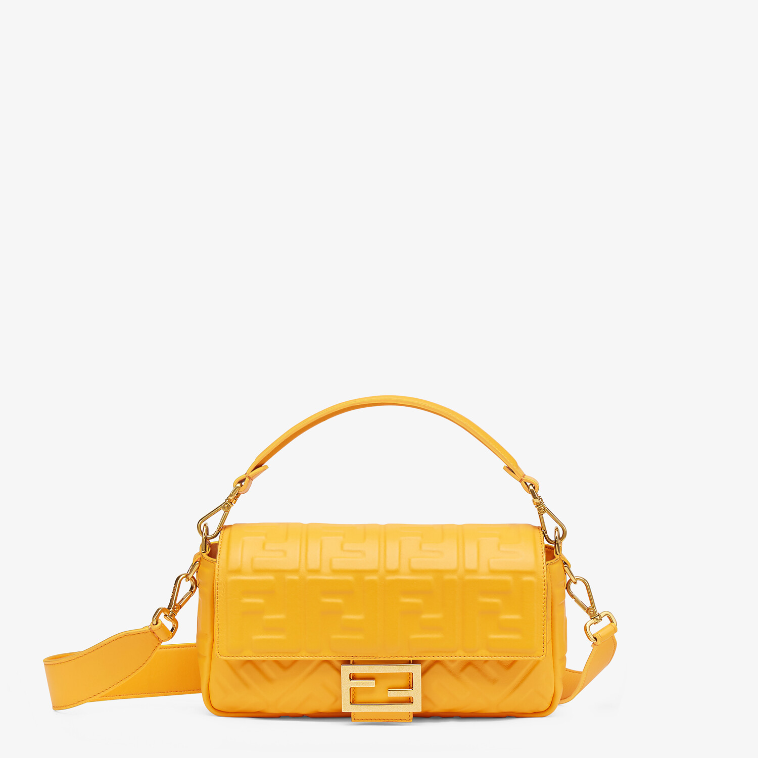 FENDI BAGUETTE - Orange nappa leather bag - view 1 detail