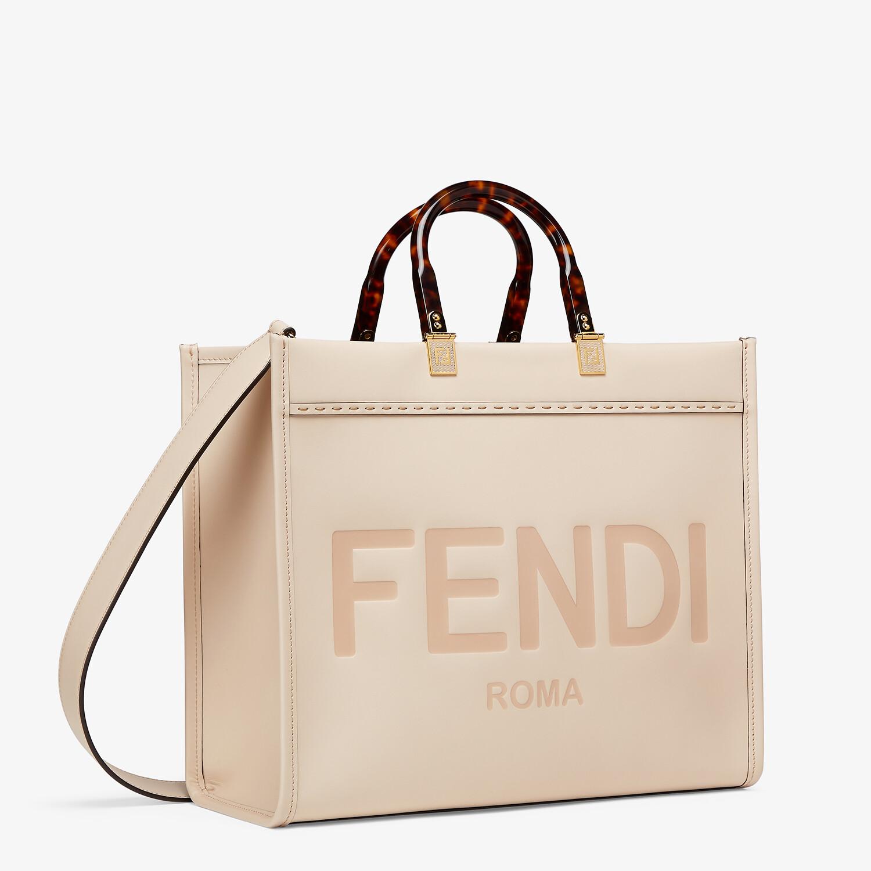 FENDI FENDI SUNSHINE MITTEL - Shopper aus Leder in Rosa - view 2 detail