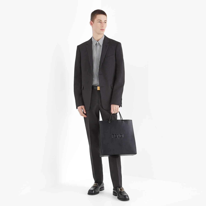 FENDI FENDI PACK SHOPPING BAG MEDIUM - Black leather bag - view 6 detail