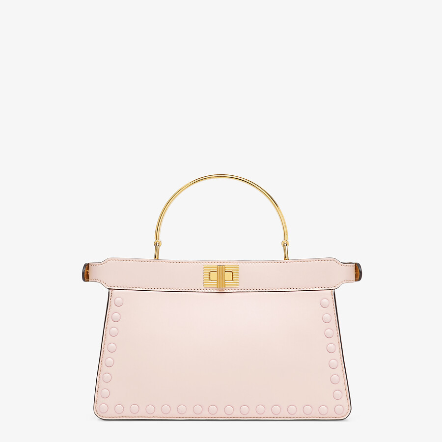 FENDI PEEKABOO ISEEU EAST-WEST - Pink leather bag - view 4 detail