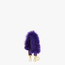 FENDI MINI STRAP YOU - Schulterriemen aus Lammfell in Violett - view 1 thumbnail