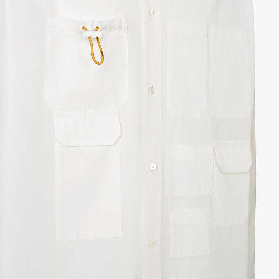 FENDI 恤衫 - 白色府綢恤衫 - view 3 detail