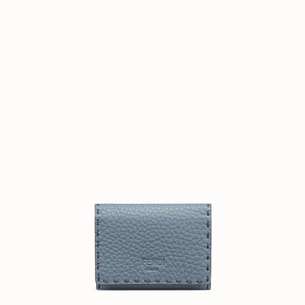 FENDI CARD HOLDER - Pale blue leather business card holder - view 1 small thumbnail