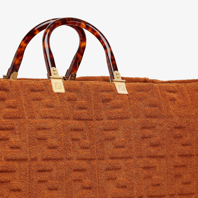 FENDI FENDI SUNSHINE XL - Shopper in brown terrycloth - view 5 detail